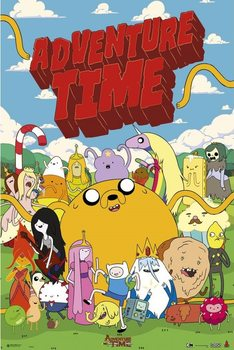 Adventure time - personajes плакат