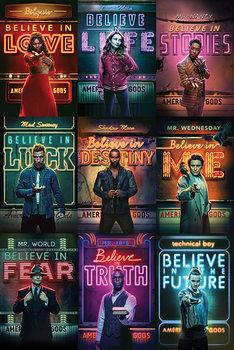 American Gods - Characters плакат