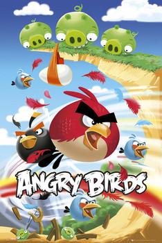 Angry birds - attack плакат