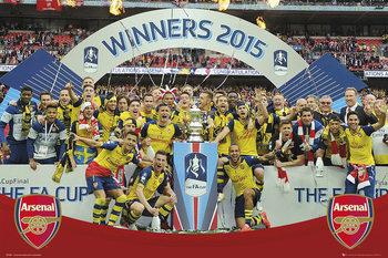 Arsenal FC - FA Cup Winners 14-15 - плакат