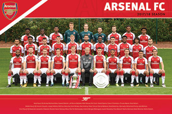 Arsenal FC - Team 17/18 плакат