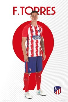 Atletico De Madrid 2017/2018 -  F. Torres плакат