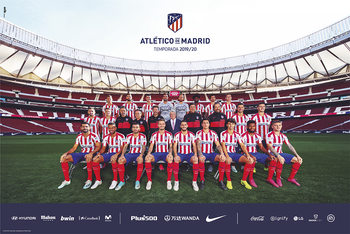 Atletico De Madrid 2019/2020 - Team плакат