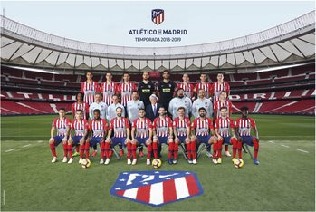 Atletico Madrid 2018/2019 - Plantilla плакат