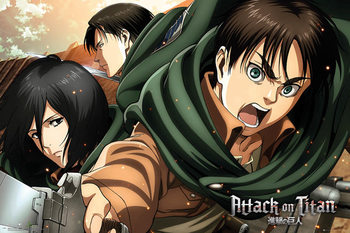 Attack on Titan (Shingeki no kyojin) - Scouts плакат