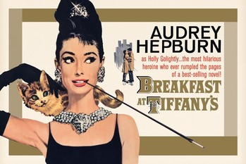 AUDREY HEPBURN - gold one sheet - плакат