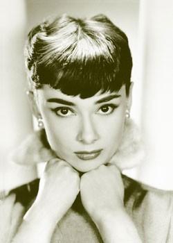 Audrey Hepburn - sepia - плакат