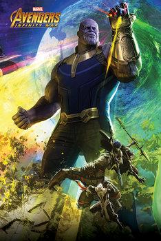 Avengers Infinity War - Thanos плакат