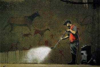 Banksy Street Art - Street Cleaner - плакат