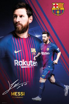 Barcelona - Messi Collage 17-18 плакат