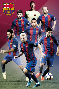 Barcelona - Players 16/17 плакат
