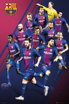 Barcelona - Players 17-18 плакат