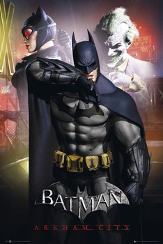 BATMAN - arkham man main плакат