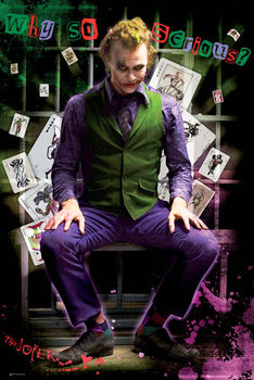 BATMAN DARK KNIGHT - joker jail - плакат