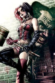 Batman - Harley Quinn Pose плакат