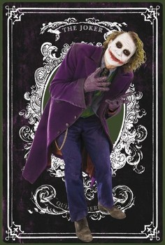 BATMAN - joker card плакат
