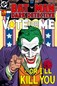 BATMAN - joker vote for me плакат