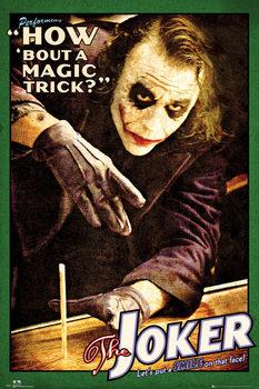 BATMAN THE DARK KNIGHT - joker trick плакат