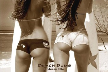 Beach bums - by jason ellis плакат