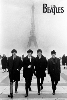 Beatles - in paris плакат