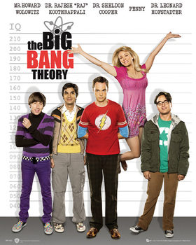 BIG BANG THEORY - line up плакат