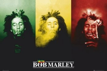 Bob Marley - flag - плакат