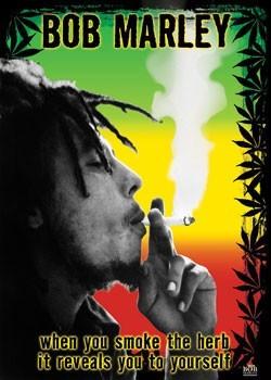 Bob Marley - herb - плакат