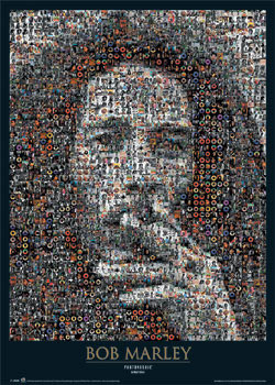 Bob Marley - photomosaic - плакат