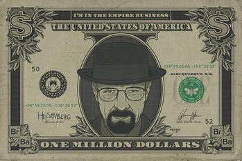 Breaking Bad - Heisenberg Dollar плакат