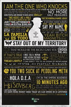BREAKING BAD - typographic - плакат