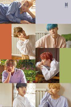 BTS - Group Collage плакат