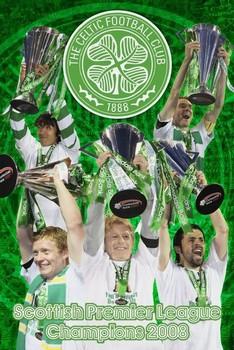 Celtic - spl champs 07/08 - плакат