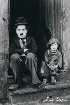 Charlie Chaplin - doorway - плакат