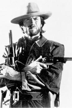 Clint Eastwood - b&w плакат