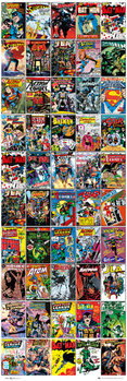 DC COMICS - covers - плакат