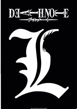 Death Note - L Symbol плакат