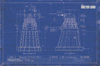 Doctor Who - Dalek Blueprint плакат