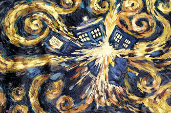 DOCTOR WHO - exploding tardis плакат