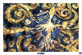 DOCTOR WHO - exploding tardis плакат