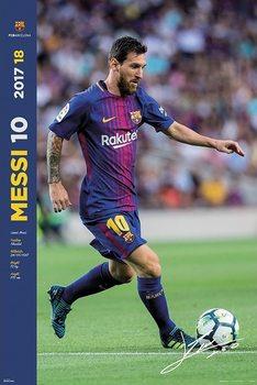 FC Barcelona 2017/2018  - Messi Accion плакат