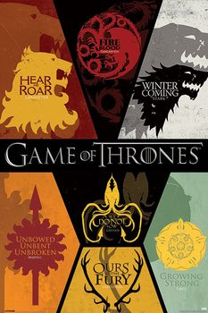GAME OF THRONES - sigils - плакат