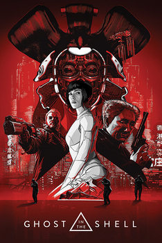 Ghost In The Shell - Red плакат