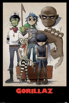 Gorillaz - all here - плакат