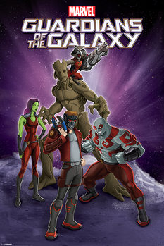 Guardians Of The Galaxy - Group плакат