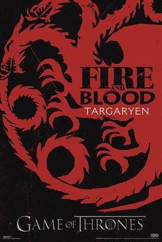 GUERRA DOS TRONOS - GAME OF THRONES - fire & blood - плакат