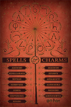 Harry Potter - Spells & Charms плакат