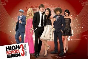 HIGH SCHOOL MUSICAL 3 - group плакат