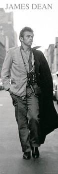 James Dean - black & white photo плакат