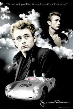 James Dean - clouds плакат