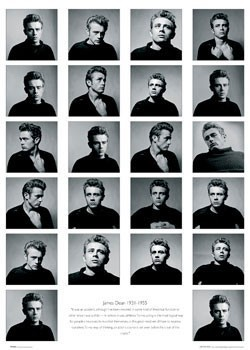James Dean - faces плакат